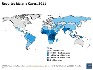 Reported Malaria Cases, 2011